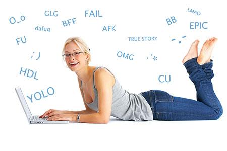 SMS, Internetjargon und Smileys