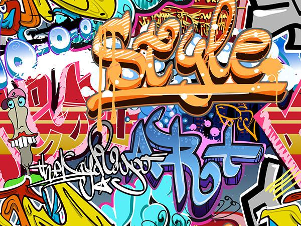 Moderne Graffiti Schriften