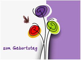 Glückwünsche Zum Geburtstag In Karte Schreiben, Zweistein... | geburtstag wünsche sprüche