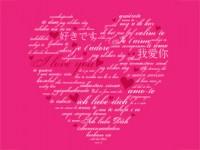 Schön Herz Mit Liebessprüchen Zum Valentinstag