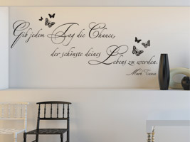 motivierende wandtattoo spr che wandtattoo spruch zur. Black Bedroom Furniture Sets. Home Design Ideas