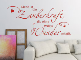 spruch voller liebe als wandtattoo spr che rund um die. Black Bedroom Furniture Sets. Home Design Ideas