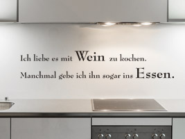 Sprüche rund ums Essen und Genießen als Wandtattoo - Genießer Spruch ...