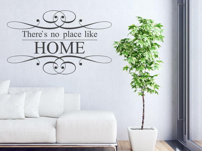 spr che rund ums zuhause als wandtattoo sch ner wandtattoo spruch f rs zuhause. Black Bedroom Furniture Sets. Home Design Ideas