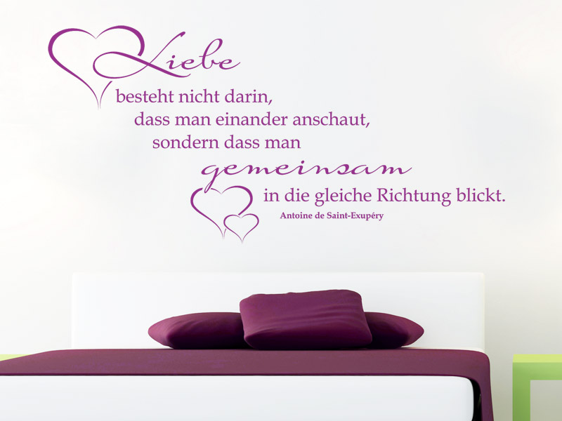 liebe als wandtattoo spr che rund um die liebe als wandtattoos. Black Bedroom Furniture Sets. Home Design Ideas