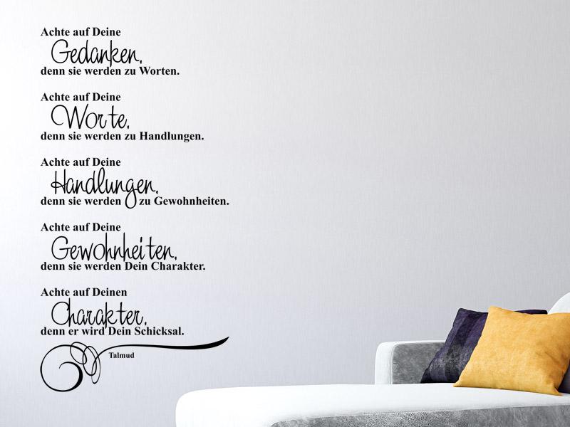 familienspr che als wandtattoo spruch wandtattoos f r. Black Bedroom Furniture Sets. Home Design Ideas