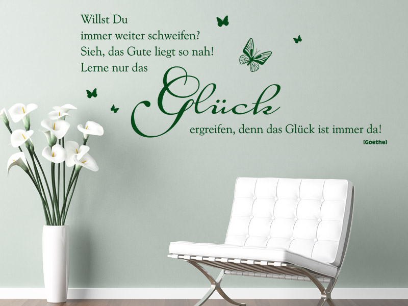 gl cksgef hle spruch wandtattoos zum thema gl ck wandtattoo spr che. Black Bedroom Furniture Sets. Home Design Ideas