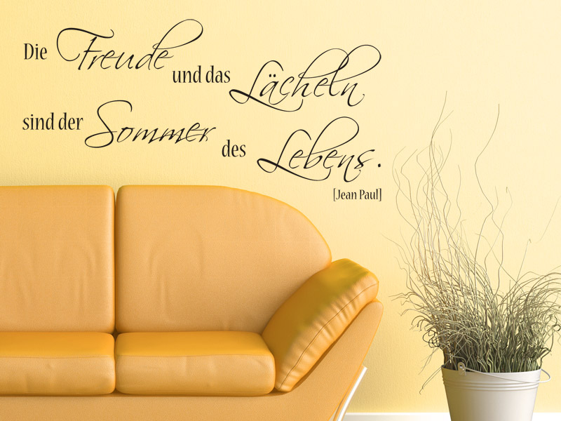 Lebensfreude Ausdrücken Mit Einem Wandtattoo Spruch Freude