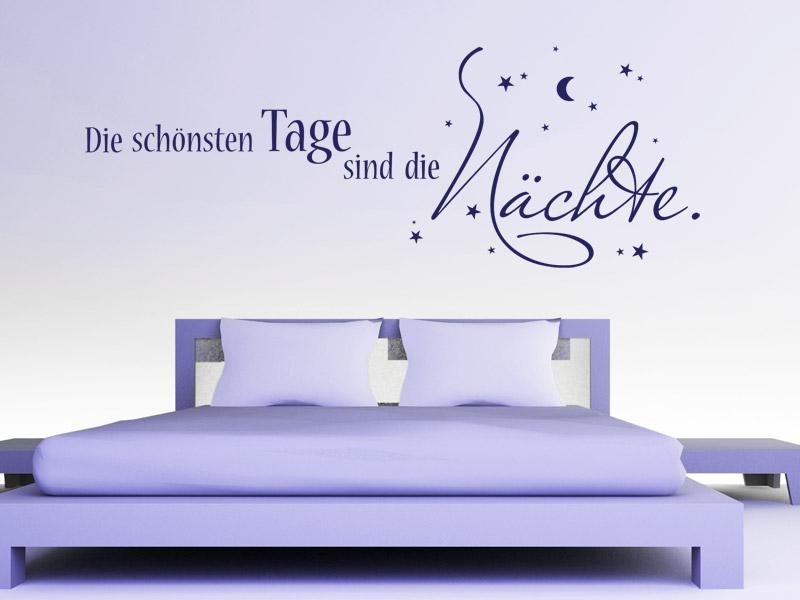 Traumhafte Wandtattoo Sprüche fürs Schlafzimmer - Spruch