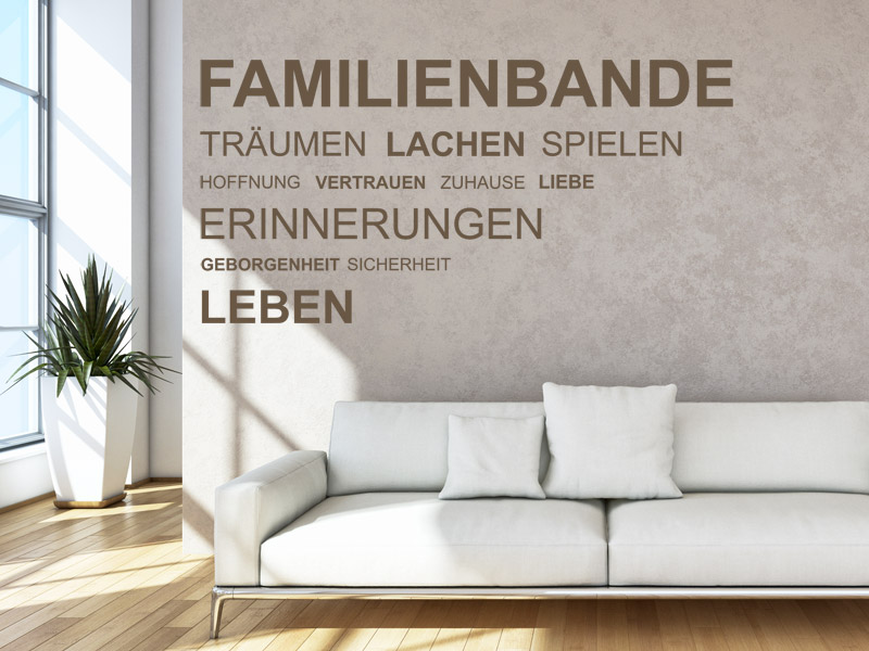 familienspr che als wandtattoo spruch wandtattoos f r die familie. Black Bedroom Furniture Sets. Home Design Ideas