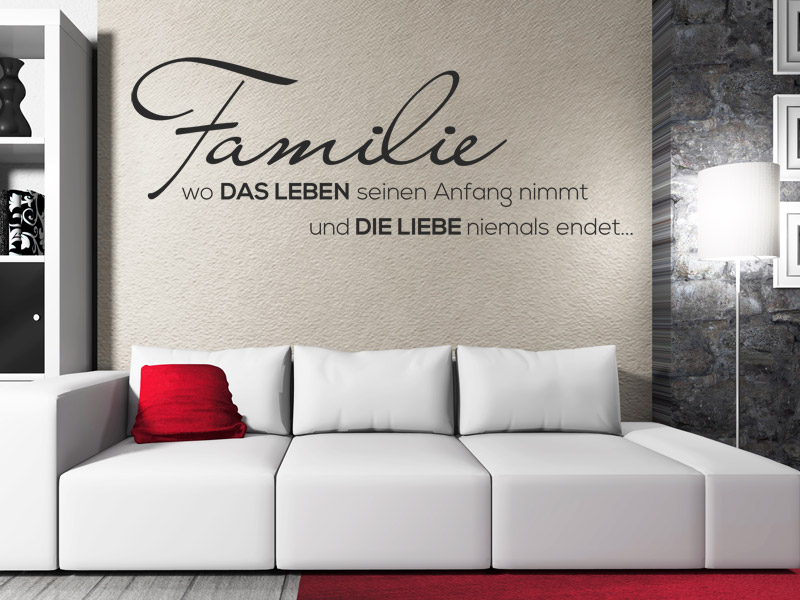 Familiensprüche als Wandtattoo - Spruch Wandtattoos für die ...