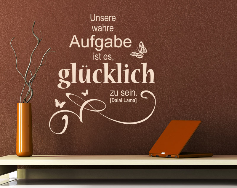 gl cksgef hle spruch wandtattoos zum thema gl ck. Black Bedroom Furniture Sets. Home Design Ideas