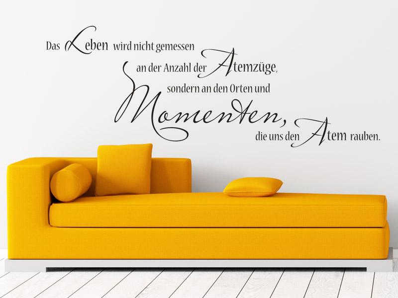 lebensfreude ausdr cken mit einem wandtattoo spruch freude am leben. Black Bedroom Furniture Sets. Home Design Ideas