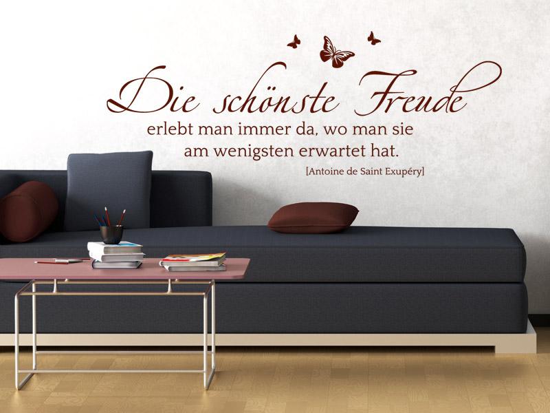 lebensfreude ausdr cken mit einem wandtattoo spruch. Black Bedroom Furniture Sets. Home Design Ideas