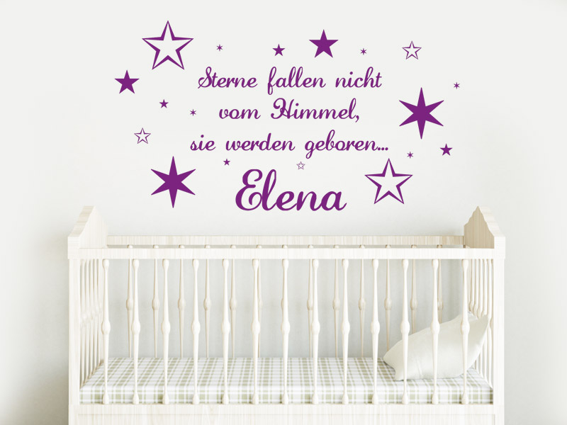 babyspr che und kinderspr che als wandtattoo spr che f rs kinderzimmer. Black Bedroom Furniture Sets. Home Design Ideas