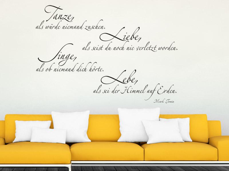 Wandtattoo Zitat Dekorative Zitate Als Wandtattoos Mit Schonen