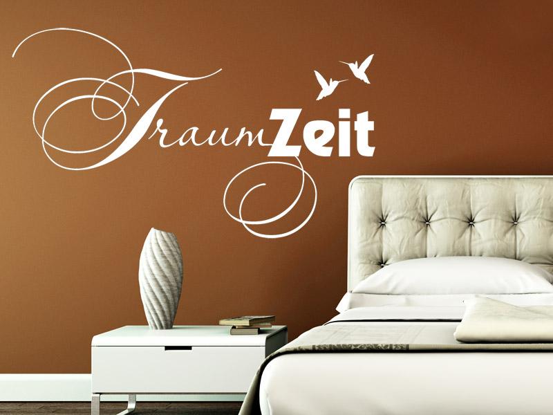 wandtattoo schlafzimmer traumzeit reuniecollegenoetsele. Black Bedroom Furniture Sets. Home Design Ideas