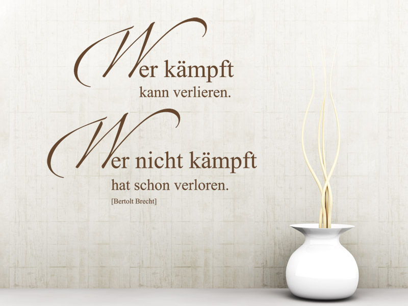 lebensmotto spruch als wandtattoo lebensmotto wandtattoos. Black Bedroom Furniture Sets. Home Design Ideas