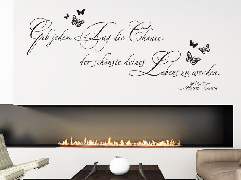 sch ne schriften f r die wand dekorative wandtattoo zitate. Black Bedroom Furniture Sets. Home Design Ideas