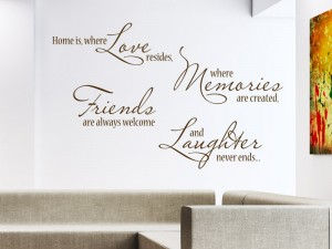 Wandtattoo Spruch Home is where love resides