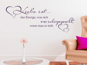 sch ne deko an der hochzeit spr che als wandtattoo. Black Bedroom Furniture Sets. Home Design Ideas