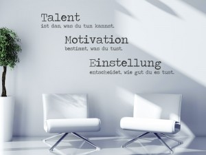 Wandtattoo Talent Motivation Einstellung