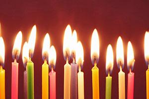Geburtstagskerzen Kuchen